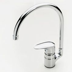 Oras Vega, kitchen faucet  with water saving eco-button for limiting water flow-rate. (1838F)
