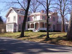 Huge Pink House in Glendale, Ohio