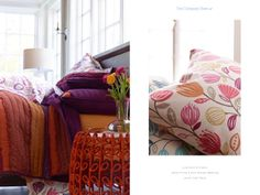 Lola Quilt and Shams, Jamie Floral & Dot Percale Bedding, Jamie Side Table