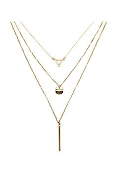 Tri Layer Gold Necklace (SHIPS 9/25) $26