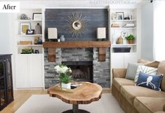 One Project at a Time - DIY Blog: Cabin Fireplace Part 2- Built Ins