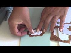 Suspended Scrapbook Page in Open Frame - YouTube