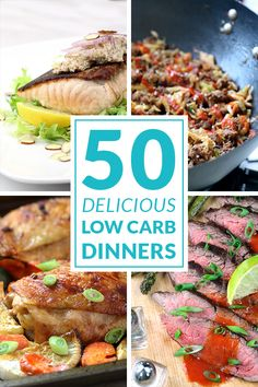 Dinner is the best part of the day! Get creative and try these delicious and healthy dinner recipes! All low carb, sugar free and gluten free with lots of paleo options too! www.tasteaholics.com