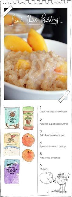 peach-rice pudding