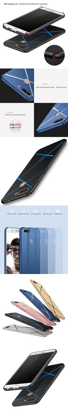 For Huawei Honor 8 Pro Case 5.7inch Hard PC Frosted Stripe Luxury Hybrid Ultrathin Antiknock Full Cover Case For Huawei Honor V9