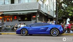 Lamborghini Gallardo blue. Don't like this styling personally.