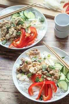 Vietnamese Vermicelli Noodle Bowl (Bun) | thewanderlustkitchen.com