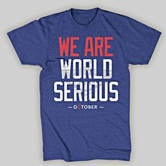 We Are World Serious Chicago Cubs T-Shirt
