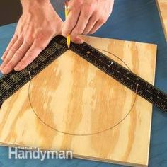 Use a framing square to draw a perfect circle:
