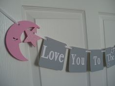 Love You to the Moon and Back Banner Wooden Moon and Stars Dinosaur Birthday, 1st Boy Birthday, Cake Smash Photos, Shower Banners, Baby Shower Invites For Girl, Baby Sprinkle, 1st Birthdays, Pink Glitter, Stars And Moon