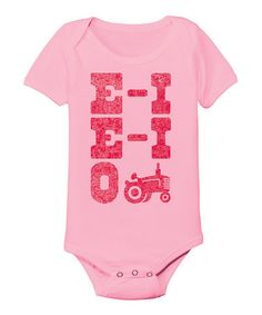 This Light Pink 'E-I E-I O' Bodysuit - Infant is perfect! #zulilyfinds
