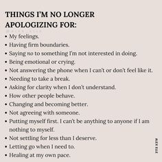 Mental Health And Wellbeing, Mental And Emotional Health, Saying Sorry, Self Care Activities, Self Improvement Tips, Mood, Note To Self, Self Development, Self Help