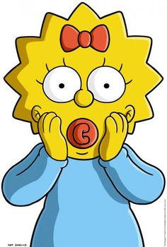 Maggie Simpson - Wikisimpsons, the Simpsons Wiki Simpsons Drawings, Cartoon Drawings, Cartoon Art, Easy Drawings, Simpsons Party, The Simpsons, Cute Canvas Paintings, Mini Canvas Art, Vintage Cartoon
