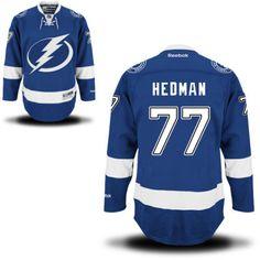 Tampa Bay Lightning 77 Victor Hedman Home Jersey - Navy Blue