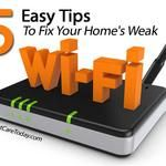 5 Tips To Fix Your Home's Weak Wi-Fi Computer Internet, Computer Tips, Best Computer, Computer Science, Wifi Router, Home Network, Technology Gadgets, Tech Gadgets, Technology Updates