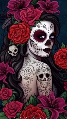 Catrina illustration the nightmare before christmas Skull Candy Tattoo, Sugar Skull Tattoos, Candy Skulls, Ear Tattoos, Celtic Tattoos, Candy Skull Makeup, Sleeve Tattoos, Pirate Skull Tattoos, Day Of The Dead Drawing