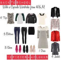 """""""Capsule wardrobe for teen"""" by careforkidsorg on Polyvore"""