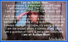 My adaption of the Soldiers Creed for Autism Moms #AutismAwareness #Warriormoms