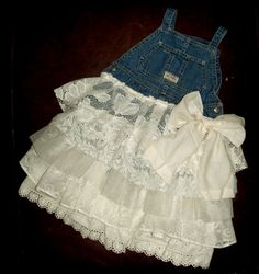 Hey, I found this really awesome Etsy listing at https://www.etsy.com/listing/195675782/denim-vintage-linen-and-lace-flower-girl