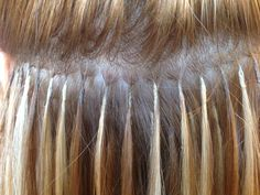 Great Lengths hair extension bonds, what they should look like