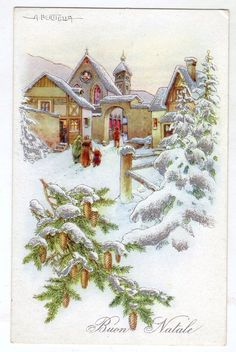 CI0012 CARTOLINA BUON NATALE bertiglia paesaggio non viaggiata | Collezionismo, Cartoline, Tematiche | eBay! Ghost Of Christmas Past, Swedish Christmas, Christmas Scenes, Noel Christmas, Winter Christmas, Christmas Crafts, Holiday Greeting Cards, Vintage Greeting Cards, Xmas Cards