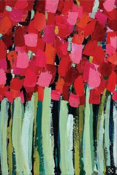 Artist Lane Fire by Anna Blatman (Canvas) Flower Art, Easy Flower Painting, Spring Art, Arte Floral, Abstract Flowers, Acrylic Art, Art Techniques, Diy Art, Art Projects