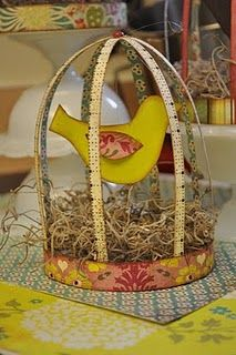 paper bird cage - inspiration for H's bird room?