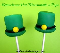 leprechaun hat marshmallow pops