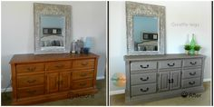10 + Furniture makeovers {painiting, stenciling, waxing and more} - Debbiedoo's