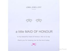 Joma jewellery a little maid of honour earrings