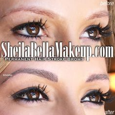 Get GORGEOUS, BEAUTIFUL, FABULOUS BROWS from Sheila Bella Permanent Makeup! Our semi-permanent makeup looks unbelievably natural! No one will believe it's a tattoo! Semi Permanent Makeup, Permanent Eyebrows, Big Eyebrows, Eyebrow Tattoo, Beautiful Things, Schedule, Makeup Looks, Waiting, Make Up
