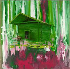 Stephen Bush.  Hawkweed (2006). Oil and enamel on canvas