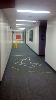 CSI theme---This would be interesting to do to publicize a murder mystery or mafia game night event