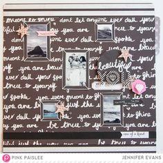 Designer Details: One of a Kind Beautiful @pinkpaislee @createoften #pinkpaislee #ppBellaRouge #scrapbooking #diy