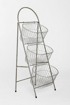 storage ladder basket stand