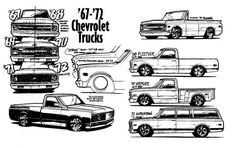 The Diffference between the 67-72 Chevy Trucks