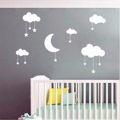 Αυτοκόλλητα τοίχου Φεγγαράκι με συννεφάκια και αστεράκια Home Decor, Decoration Home, Room Decor, Home Interior Design, Home Decoration, Interior Design