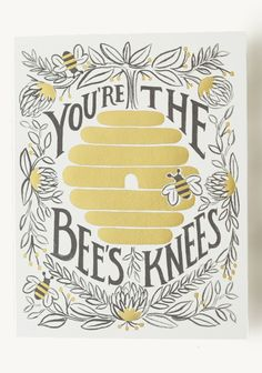 You're The Bee's Knees Card By Rifle Paper Co. | Modern Vintage Home & Office