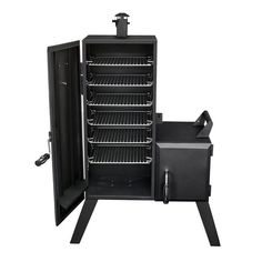 Dyna-Glo H x W in Charcoal Vertical Smoker at Lowe's. Charcoal enthusiasts, take heart! With this Dyna-Glo vertical offset smoker, you can now smoke your favorite foods with your favorite wood chips and your Barbecue Smoker, Bbq Grill, Grilling, Grill Grates, Home Depot, Best Offset Smoker, Carne Defumada, Black Smokers, Outdoor Smoker