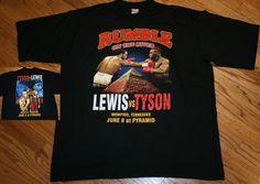 Vintage Mike Tyson vs Lennox Lewis Rumble On The River T-Shirt Men XL Memphis TN #USAAthletic #GraphicTee