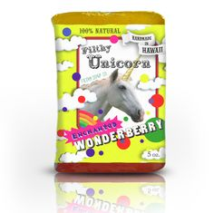 """Filthy Farmgirl - Enchanted Wonderberry  """"Our unicorns, Sparkle-Muffin and Twinkle-Nose just love rolling in rainbow mud. Normally they loath taking baths, but once they see this special soap, they can't resist galloping' into the tub for a delicious scrub!"""""""