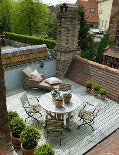 Patios are definitely the most frequent kind of outdoor living space since they are level with the floor and simple Rooftop Design, Terrace Design, Garden Design, Rooftop Terrace, Terrace Garden, Rooftop Lounge, Rooftop Decor, Terrace Floor, Outdoor Rooms