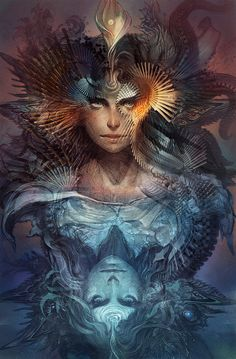 'No great artist ever sees things as they really are. If he did, he would cease to be an artist.' ~Oscar Wilde the vision and art of Android Jones the beauty and art of Melodia Android Jones, Dark Fantasy Art, Yin Yang, Art Visionnaire, Psy Art, Ouvrages D'art, Art Et Illustration, Foto Art, Visionary Art