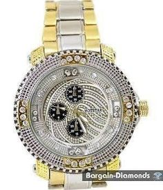 Big Mens Dress Sports Hip Hop Ice Out 2-tone Watch Metal Bracelet - Brought to you by Avarsha.com