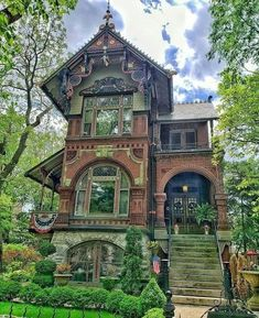 Style At Home, Victorian Style Homes, Victorian Houses, Victorian Homes Exterior, Victorian House Plans, Victorian Buildings, Cute House, House Goals, Beautiful Buildings