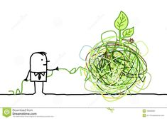 Illustration about Hand drawn cartoon character - businessman untangling a green knot. Illustration of drawn, solution, white - 18835940 Story Highlights, Communication Skills, Art Pictures, Cartoon Characters, Knots, How To Draw Hands, Doodles, Concept, Doodle