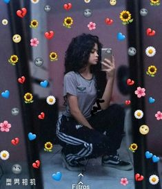 Aesthetic Photo, Aesthetic Girl, Emoji Pictures, Rainbow Aesthetic, Instagram Story Ideas, Tumblr Photography, Curly Girl, Tumblr Girls, Photo Tips