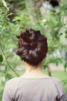 sweet and simple...and i still can't seem to get the messy bun to ever look good.