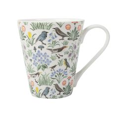This My Garden mug is a stunning piece from the Voysey collection by V&A. This fine bone china mug has a unique charm with a beautiful bird design. The Voysey collection has been created from the work of one of the most influential Arts and Crafts designers, C.F.A. Voysey (1857-1941) Dishwasher Safe Microwave Safe Size: 9.5 x 13 x 11cm Boxed