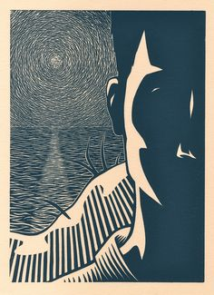 The Outsider - Linocut by Darrel Perkins